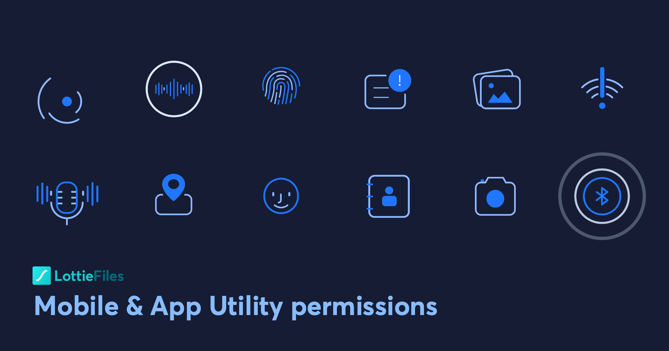 Mobile & App Utility permissions - LottieFiles